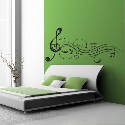 wandtattoos folies musiknoten. Black Bedroom Furniture Sets. Home Design Ideas