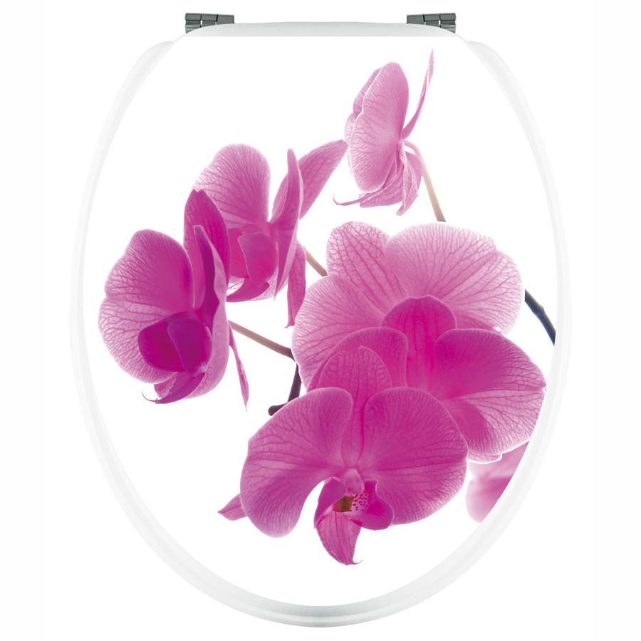 wandtattoos folies aufkleber f r toilettendeckel orchidee. Black Bedroom Furniture Sets. Home Design Ideas