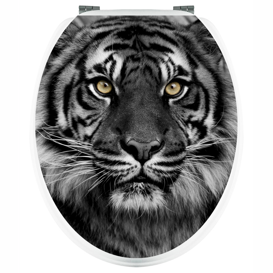 wandtattoos folies aufkleber f r toilettendeckel tiger. Black Bedroom Furniture Sets. Home Design Ideas