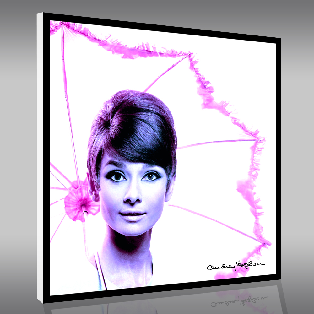 wandtattoos folies forex bild audrey hepburn. Black Bedroom Furniture Sets. Home Design Ideas