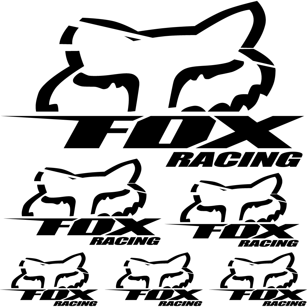 Wandtattoos Folies Fox Racing Aufkleber Set