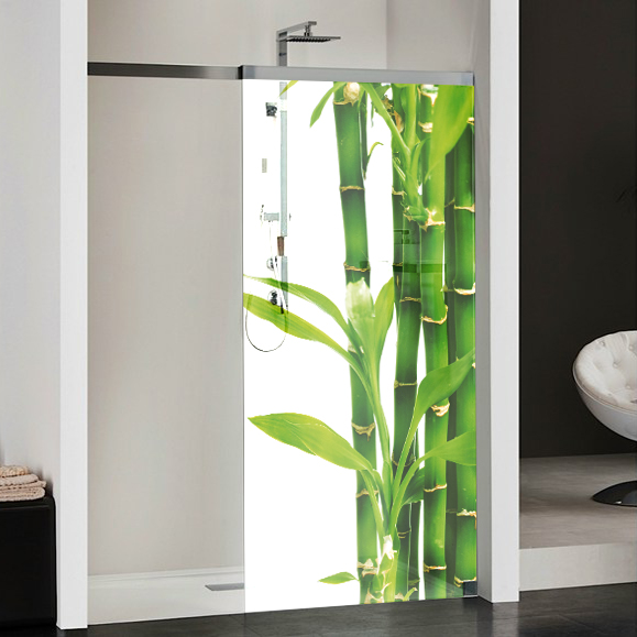 wandtattoos folies glasdekor dusche bambus. Black Bedroom Furniture Sets. Home Design Ideas
