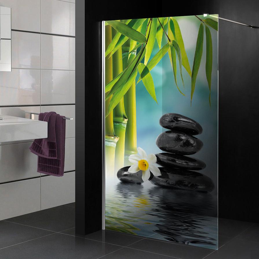 Wandtattoos folies : Glasdekor Dusche Zen