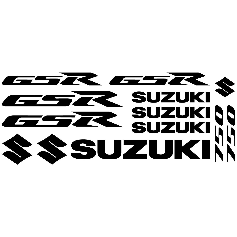 Wandtattoos Folies Suzuki Gsr 750 Aufkleber Set