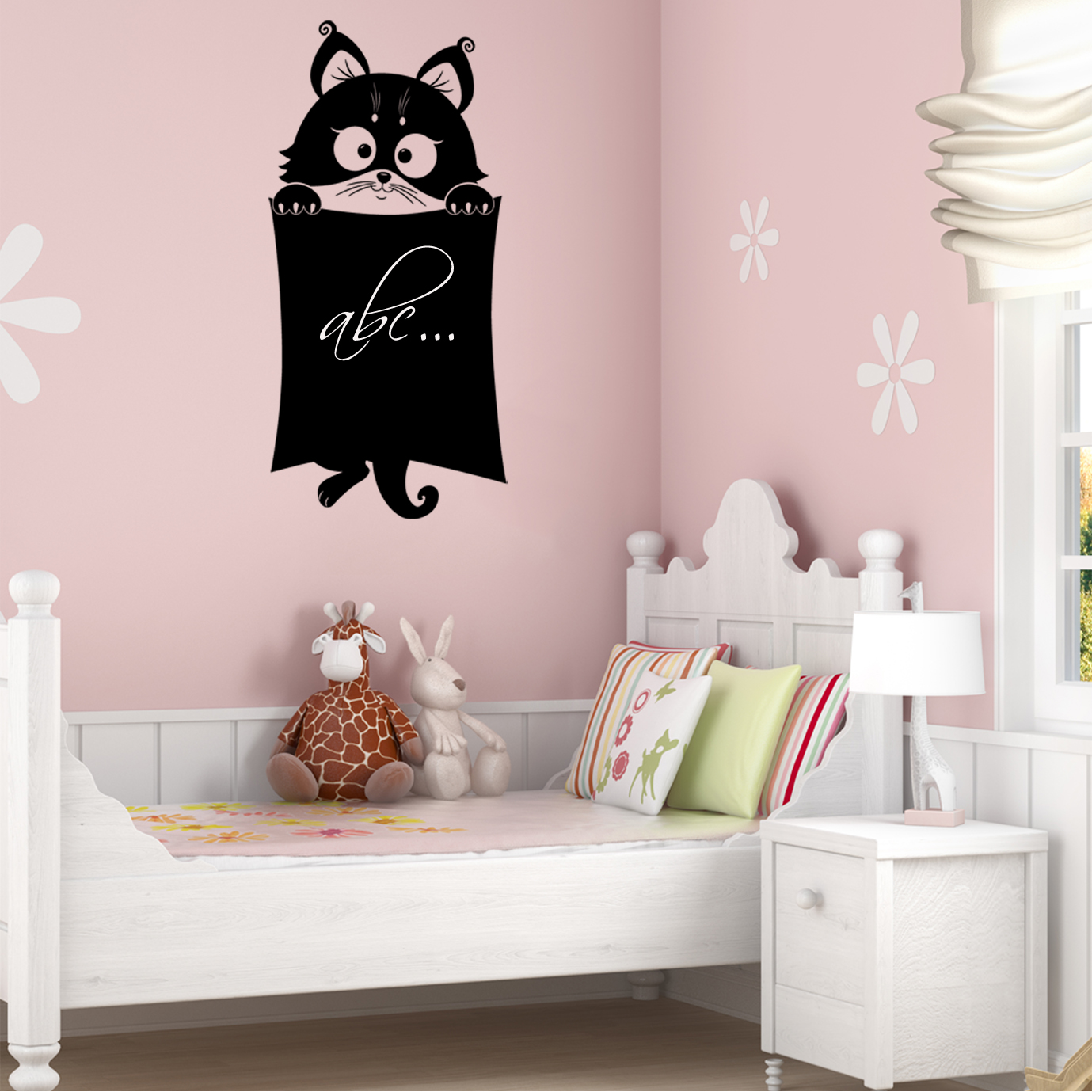 wandtattoos folies tafelfolie katze. Black Bedroom Furniture Sets. Home Design Ideas
