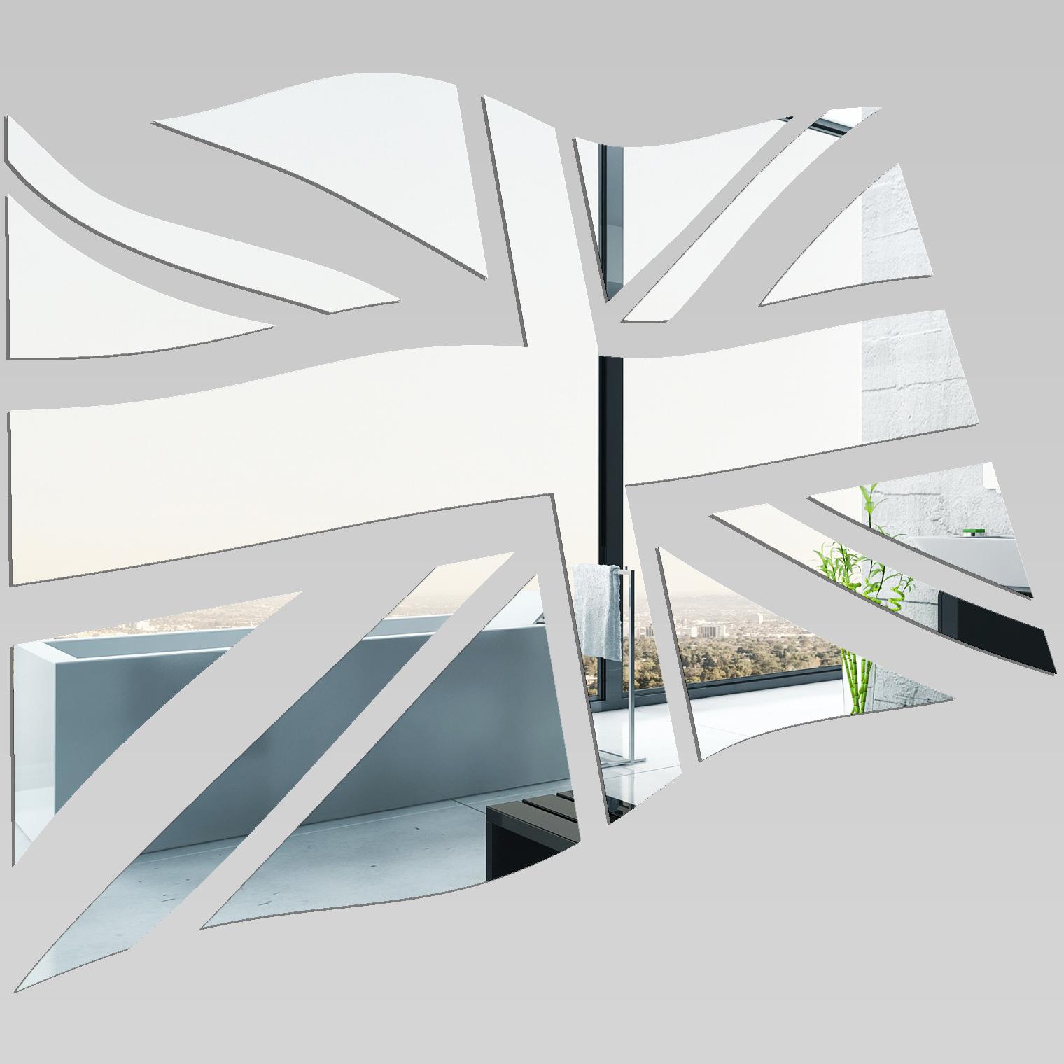 Wandtattoos folies wandspiegel aus acrylglas englisch flagge for Spiegel englisch