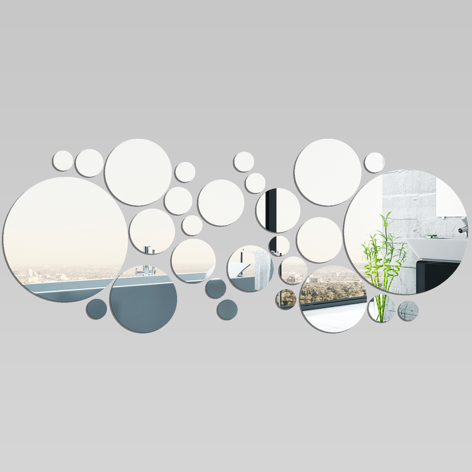 wandtattoos folies wandspiegel aus acrylglas kreise. Black Bedroom Furniture Sets. Home Design Ideas