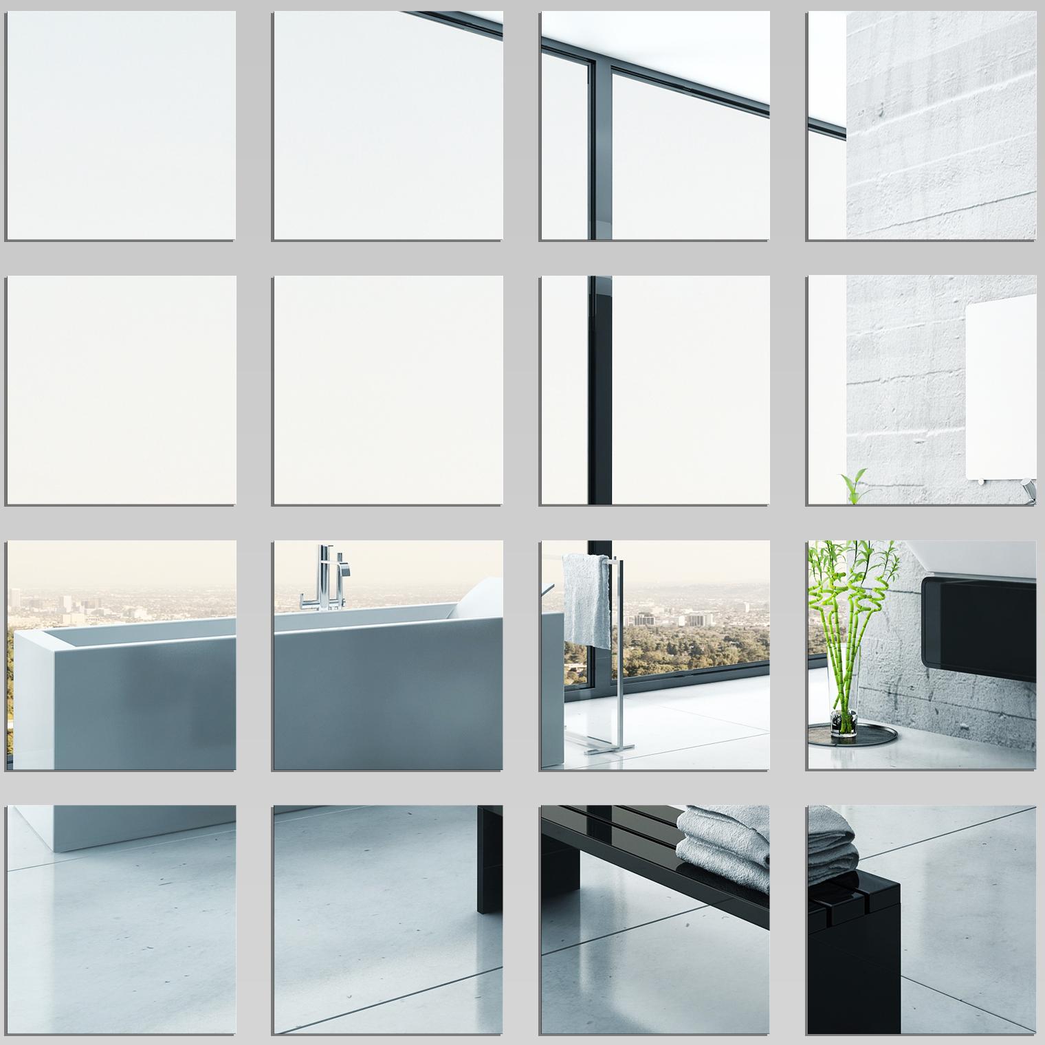 wandtattoos folies wandspiegel aus acrylglas quadrat set. Black Bedroom Furniture Sets. Home Design Ideas