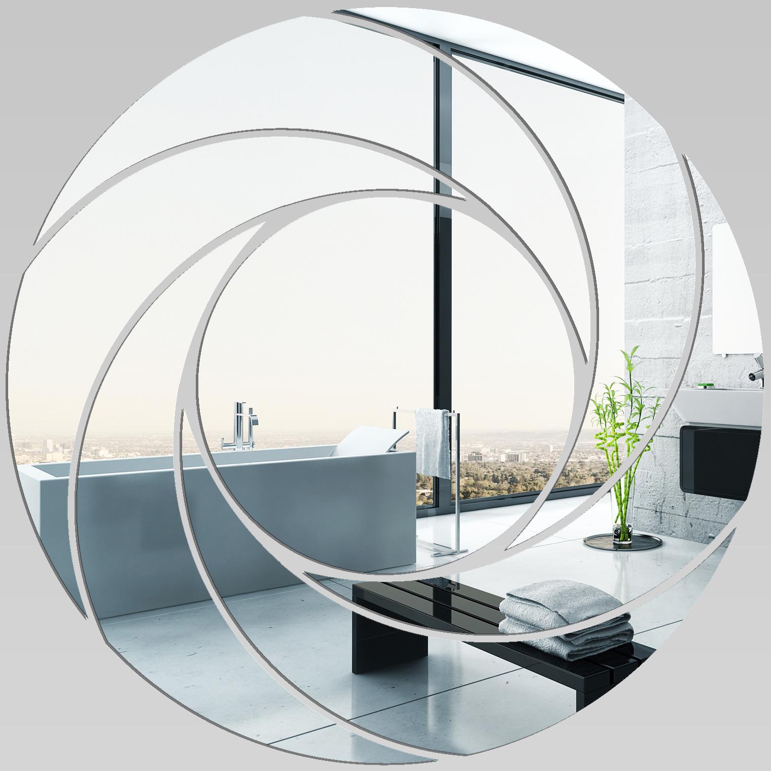 Wandtattoos folies wandspiegel aus acrylglas spirale design - Wandspiegel design ...