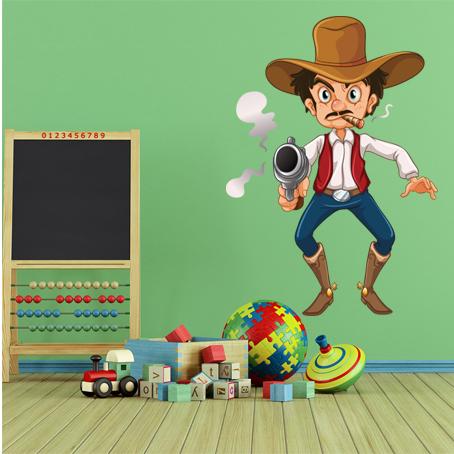 Wandtattoos folies wandsticker cowboy - Wandtattoo cowboy ...
