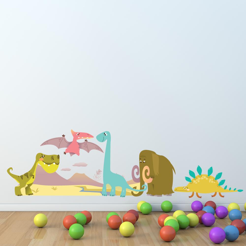 Wandtattoos folies wandsticker dinosaurier set for Wandsticker jungs