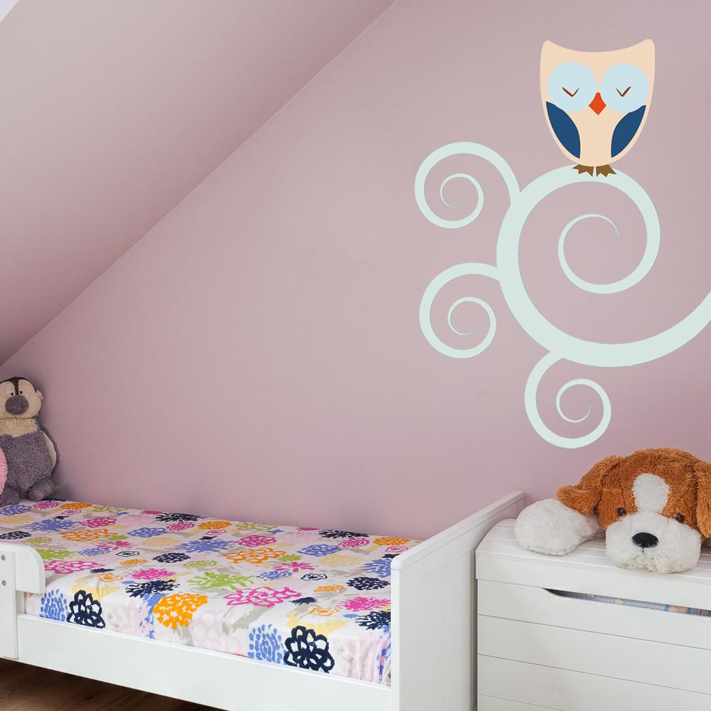 wandtattoos folies wandsticker eule. Black Bedroom Furniture Sets. Home Design Ideas