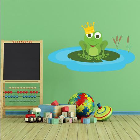 Wandtattoos folies wandsticker frosch for Spiegel 40x70