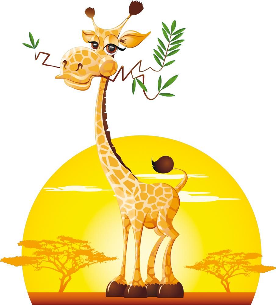 wandtattoos folies wandsticker giraffe. Black Bedroom Furniture Sets. Home Design Ideas