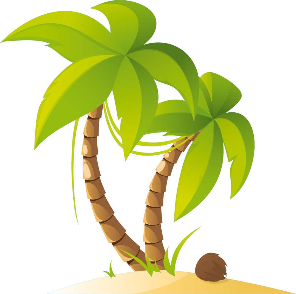 A Wandsticker Palme 5565 on Summer Tree Clip Art