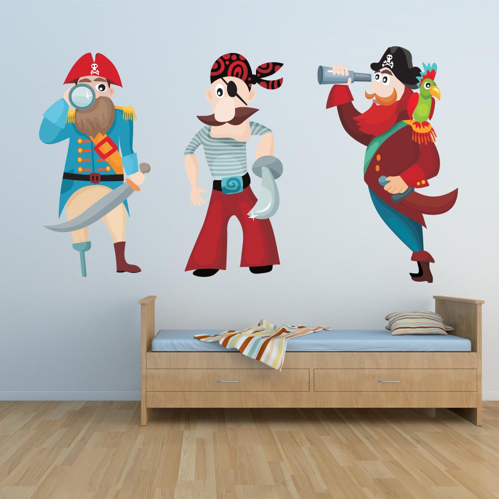 Faszinierend Piraten Wandtattoo Galerie Von Wandsticker Set