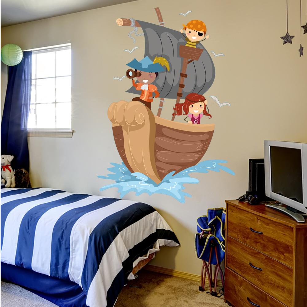 wandtattoos folies wandsticker piratenschiff. Black Bedroom Furniture Sets. Home Design Ideas