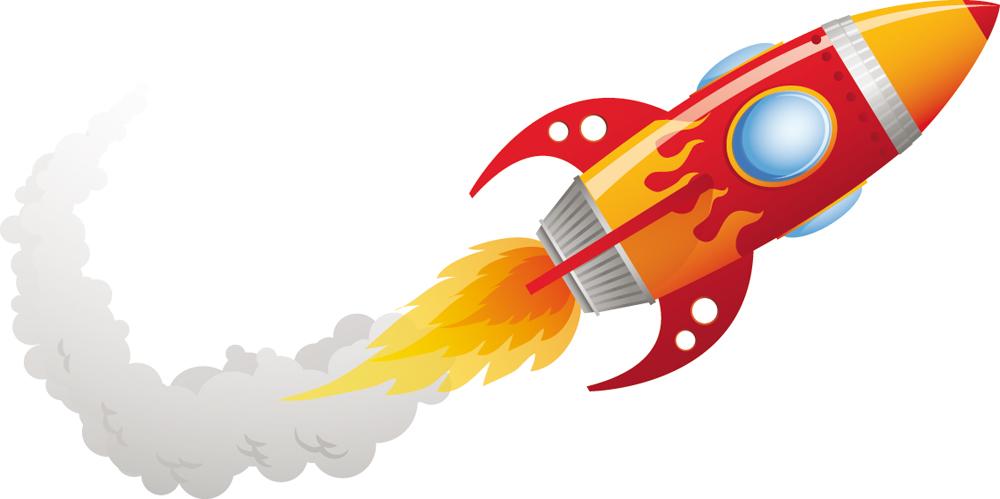 Wandtattoos folies : Wandsticker Rakete
