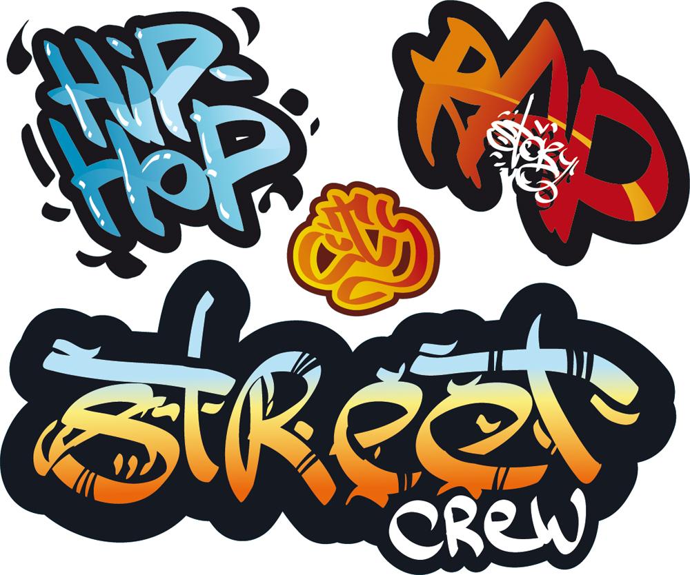Wandtattoos folies wandtatto graffiti set - Wandsticker graffiti ...