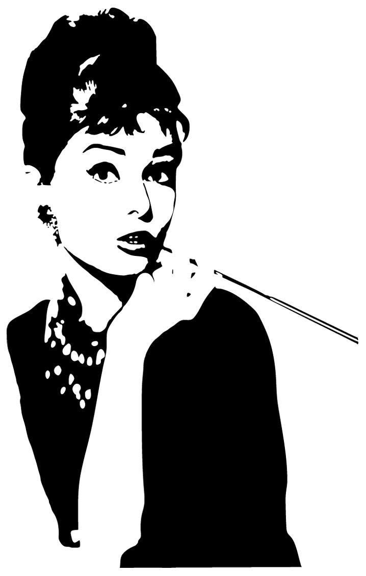 Wandtattoos Folies Wandtattoo Audrey Hepburn