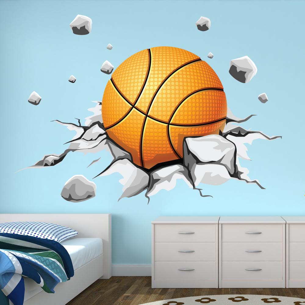 Wandtattoos folies wandtattoo basketball - Wandtattoo ballon ...