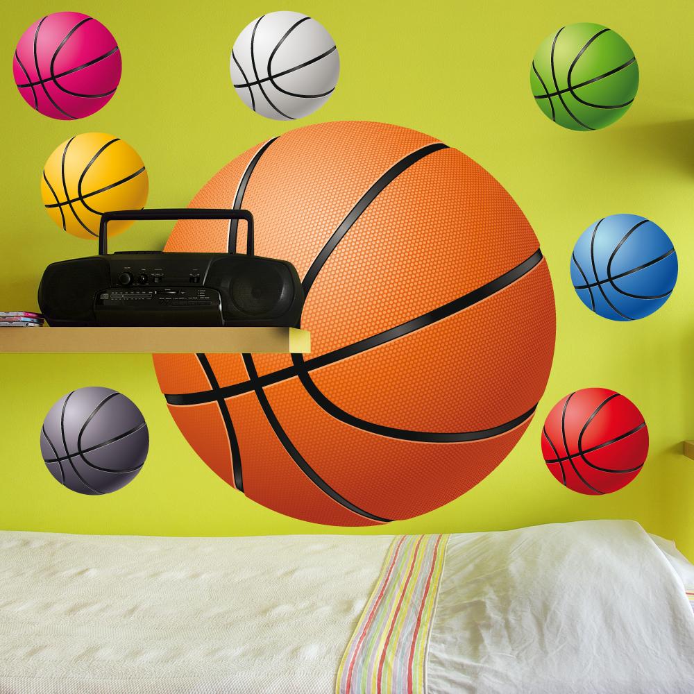 Faszinierend Wandtattoo Basketball Referenz Von Set