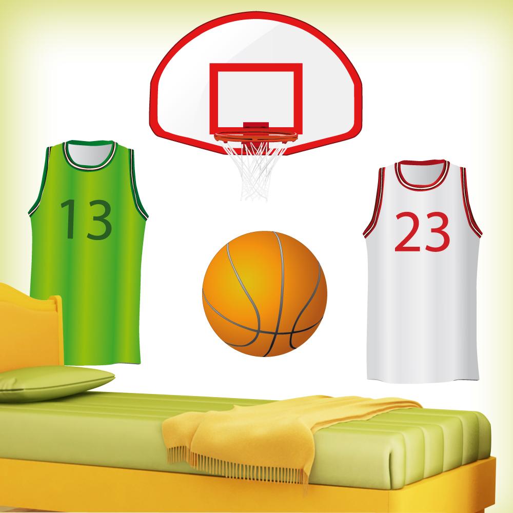 Ansprechend Wandtattoo Basketball Galerie Von Zubehör Set