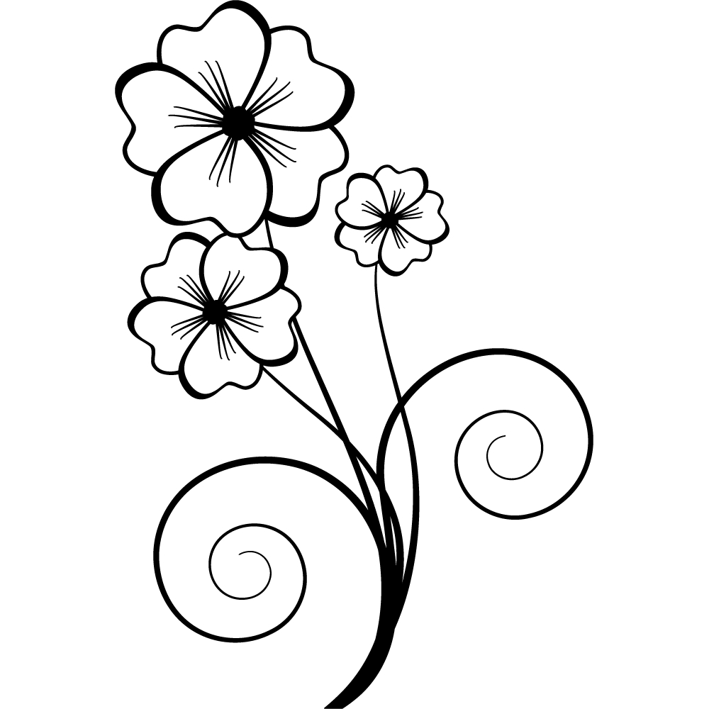 Wandtattoos folies : Wandtattoo Blume