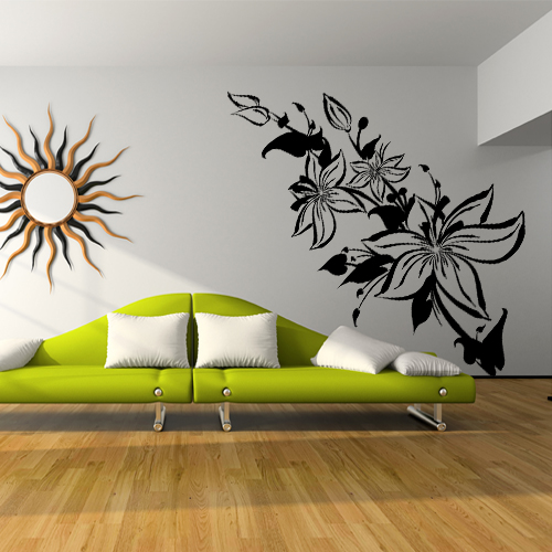 wandtattoos folies wandtattoo blumen. Black Bedroom Furniture Sets. Home Design Ideas
