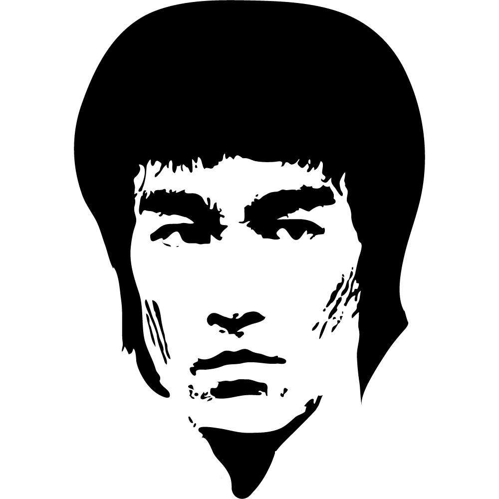 Idee design küche weiß : Wandtattoos folies : Wandtattoo Bruce Lee
