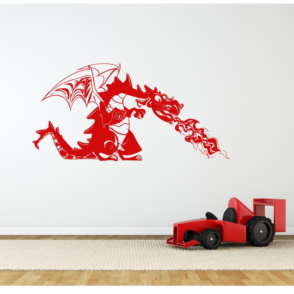 Anspruchsvoll Wandtattoo Drachen Galerie Von