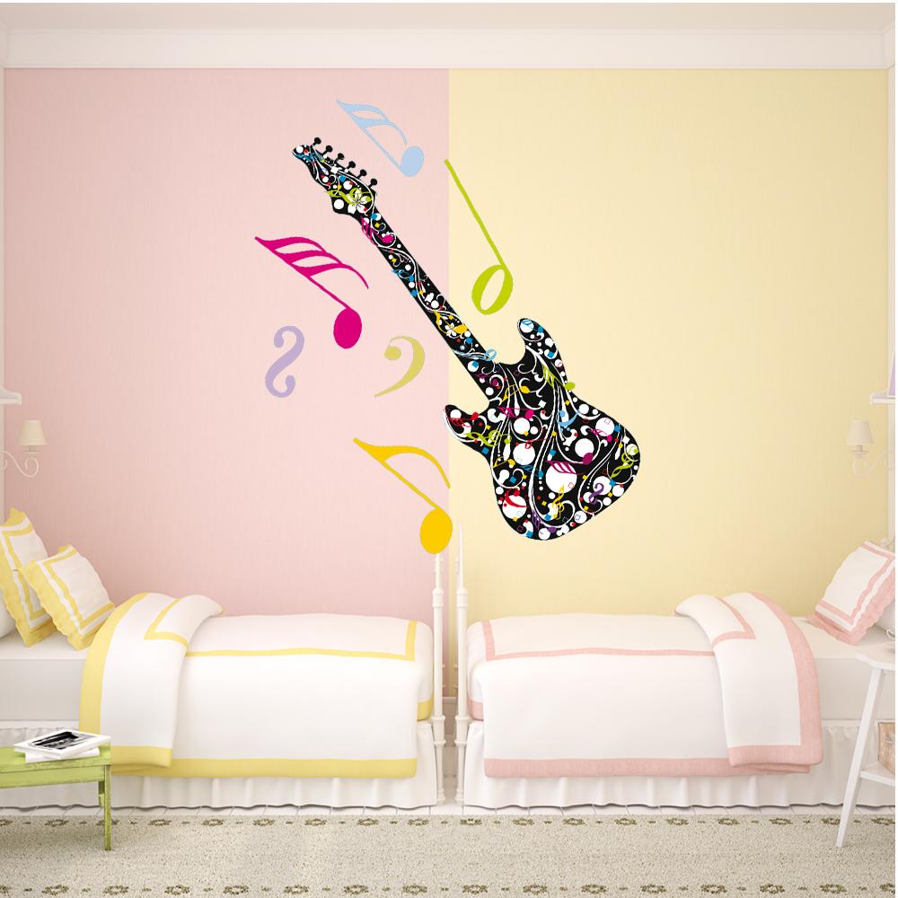 Wandtattoos folies wandtattoo gitarre for Spiegel 40x70