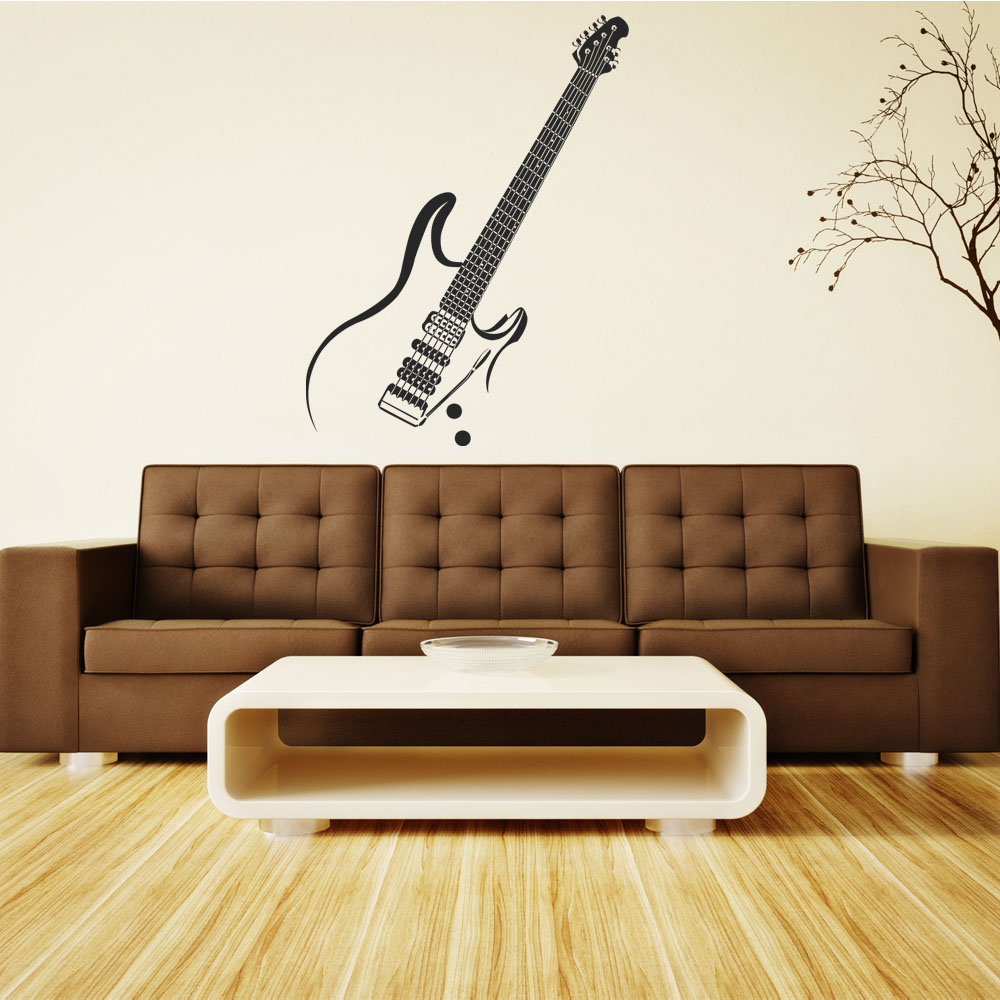 wandtattoos folies wandtattoo gitarre. Black Bedroom Furniture Sets. Home Design Ideas