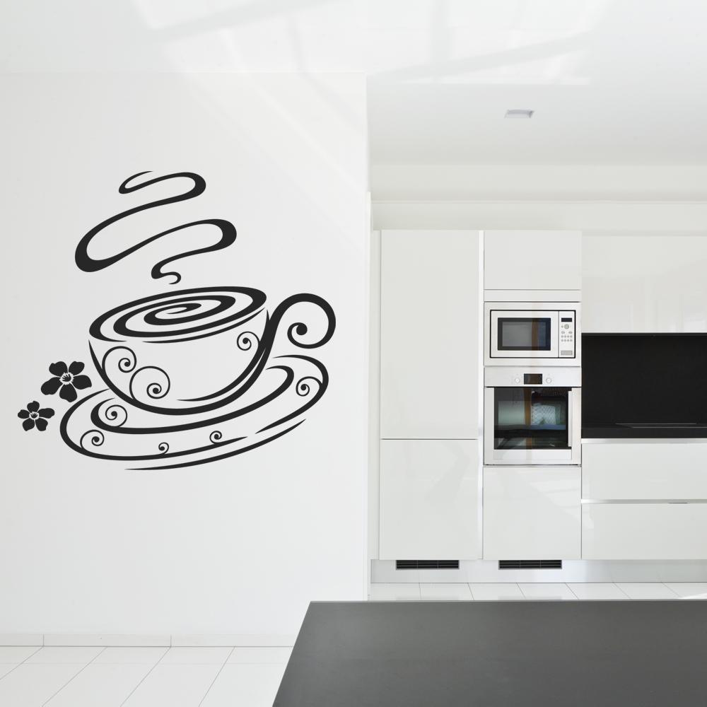 Wandtattoos folies : Wandtattoo Kaffeetasse
