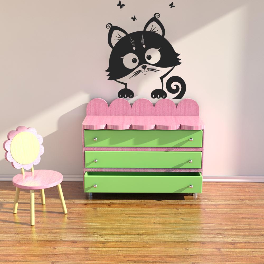 wandtattoos folies wandtattoo katze. Black Bedroom Furniture Sets. Home Design Ideas