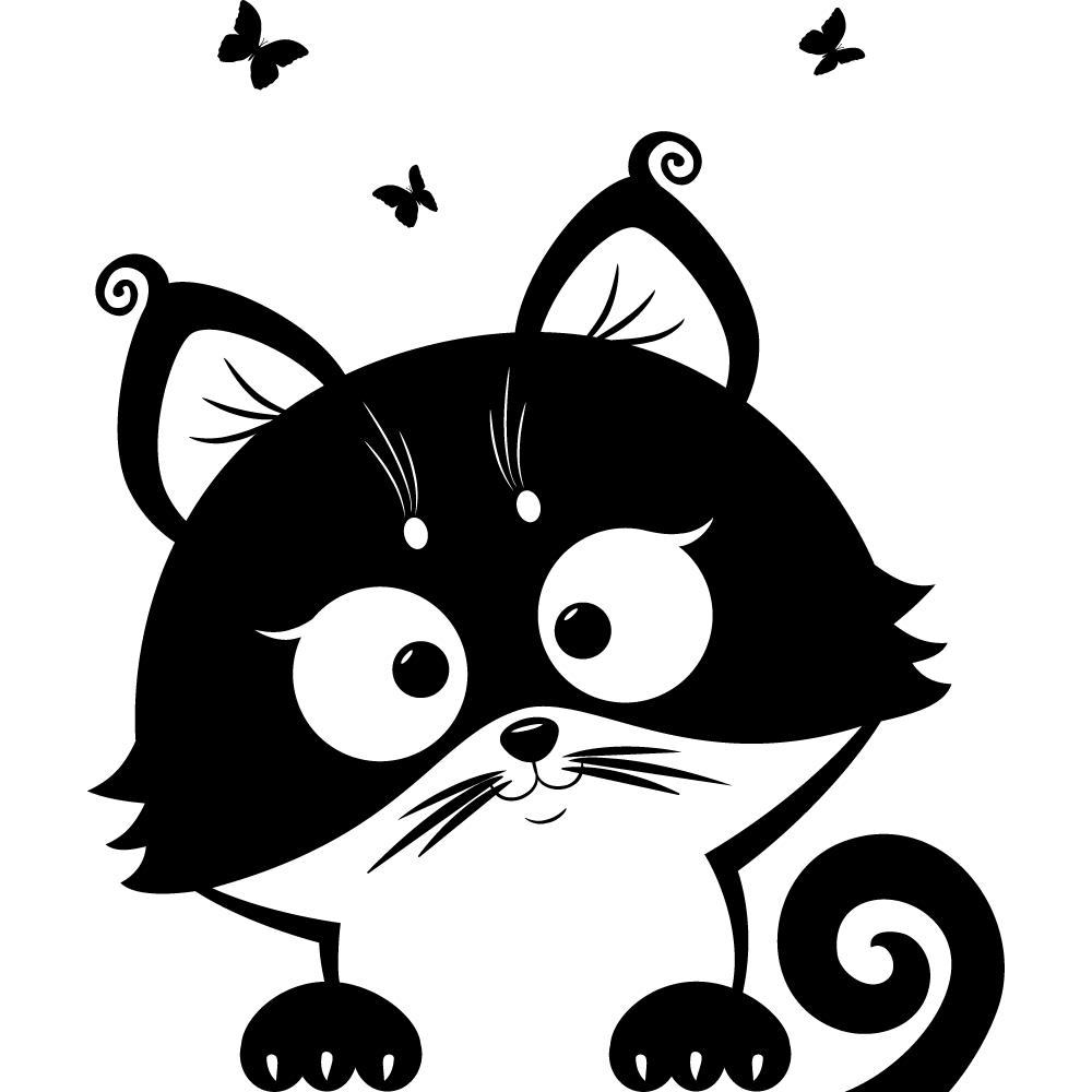 Geräumig Wandtattoo Katzen Beste Wahl Katze