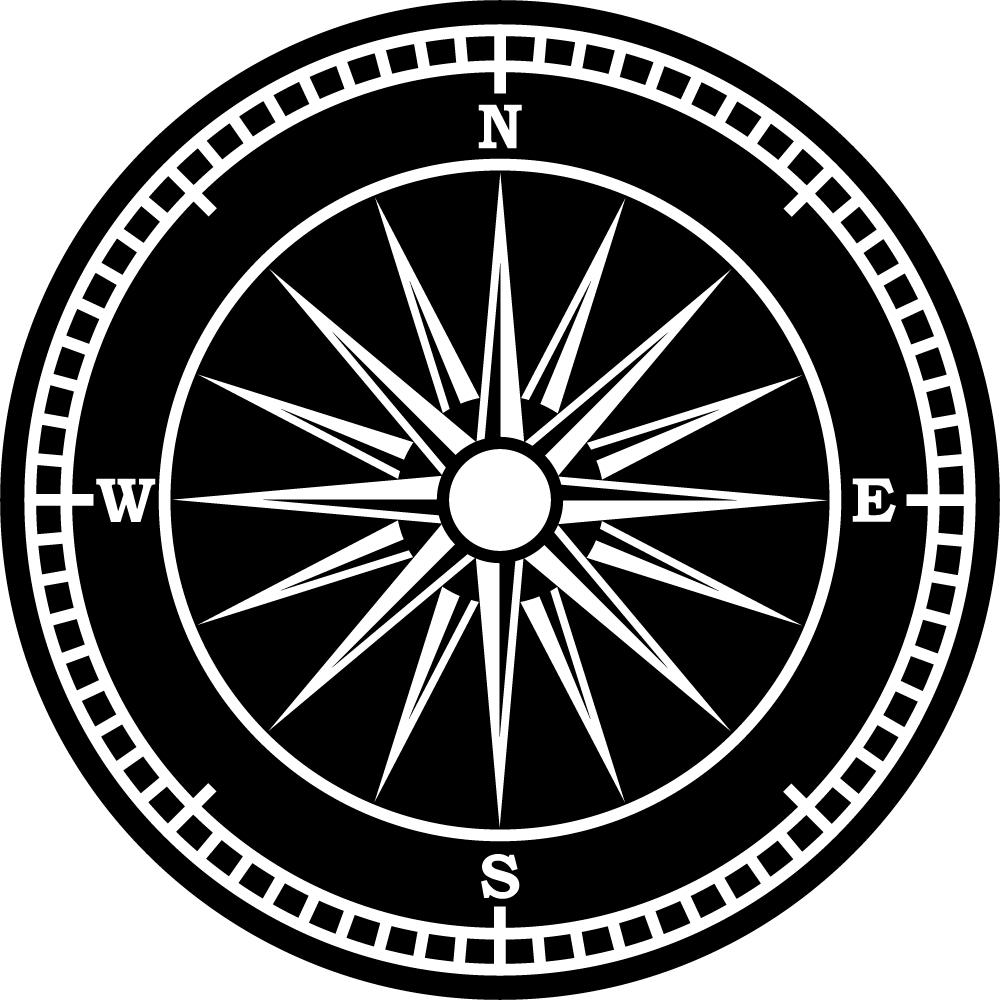 Wandtattoos folies wandtattoo kompass - Wandtattoo kompass ...