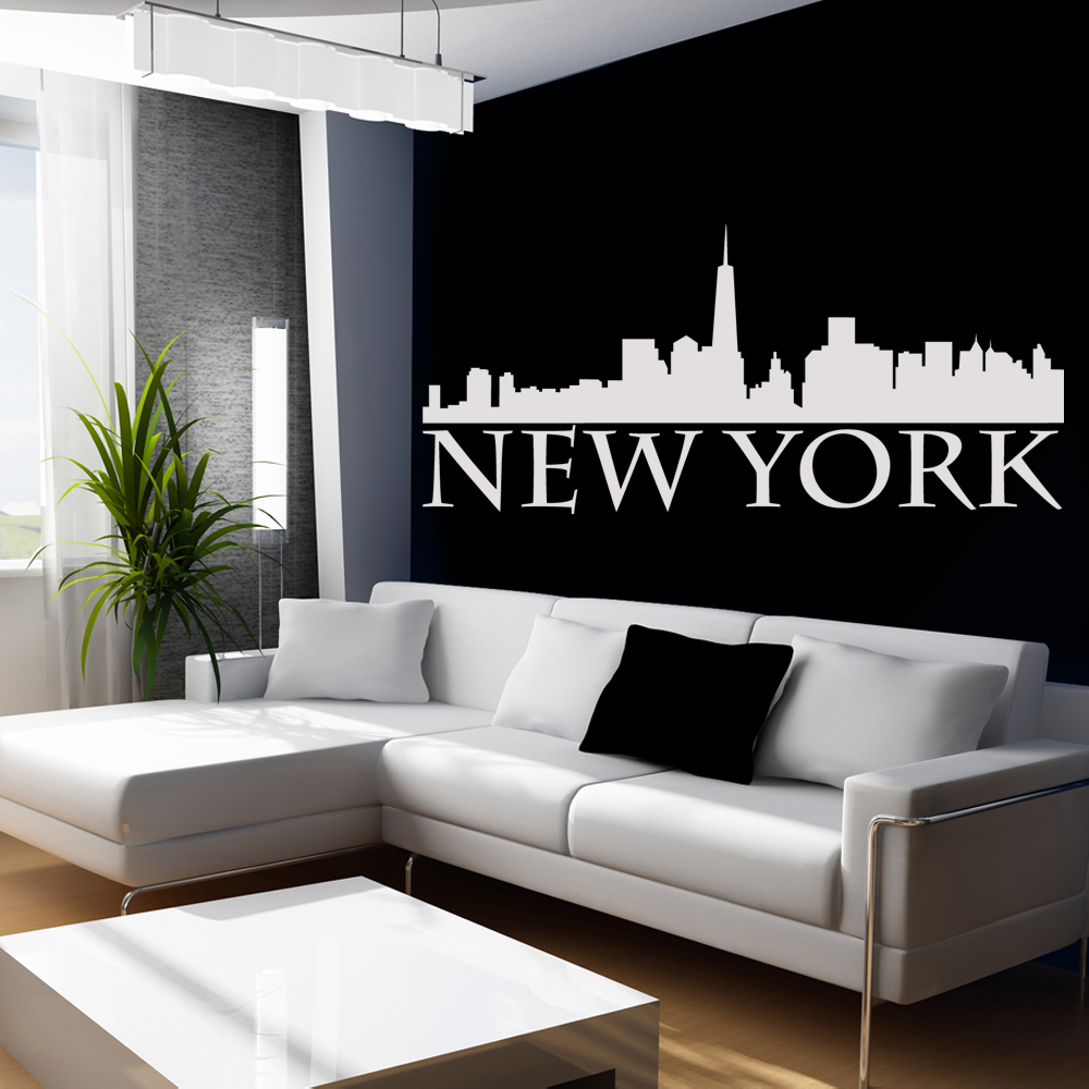 wandtattoos folies wandtattoo new york. Black Bedroom Furniture Sets. Home Design Ideas