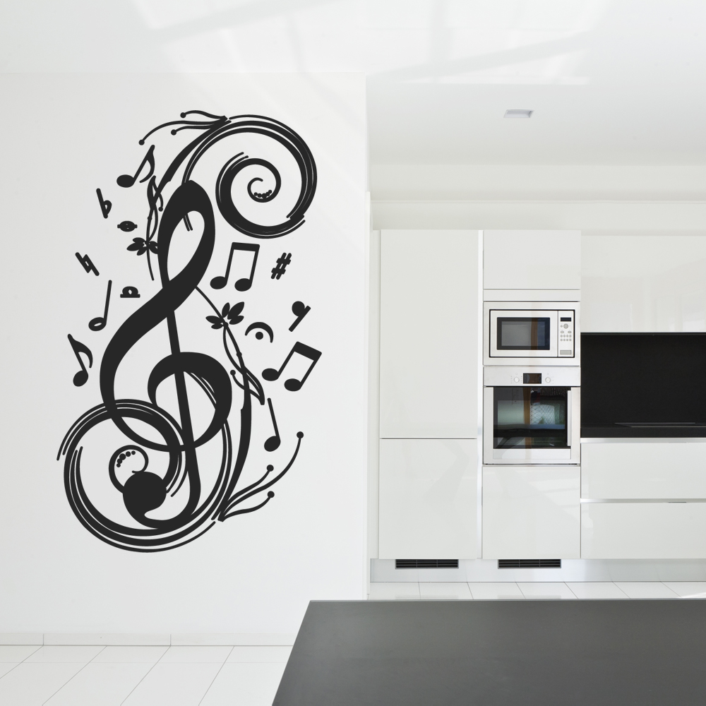 wandtattoos folies wandtattoo noten. Black Bedroom Furniture Sets. Home Design Ideas