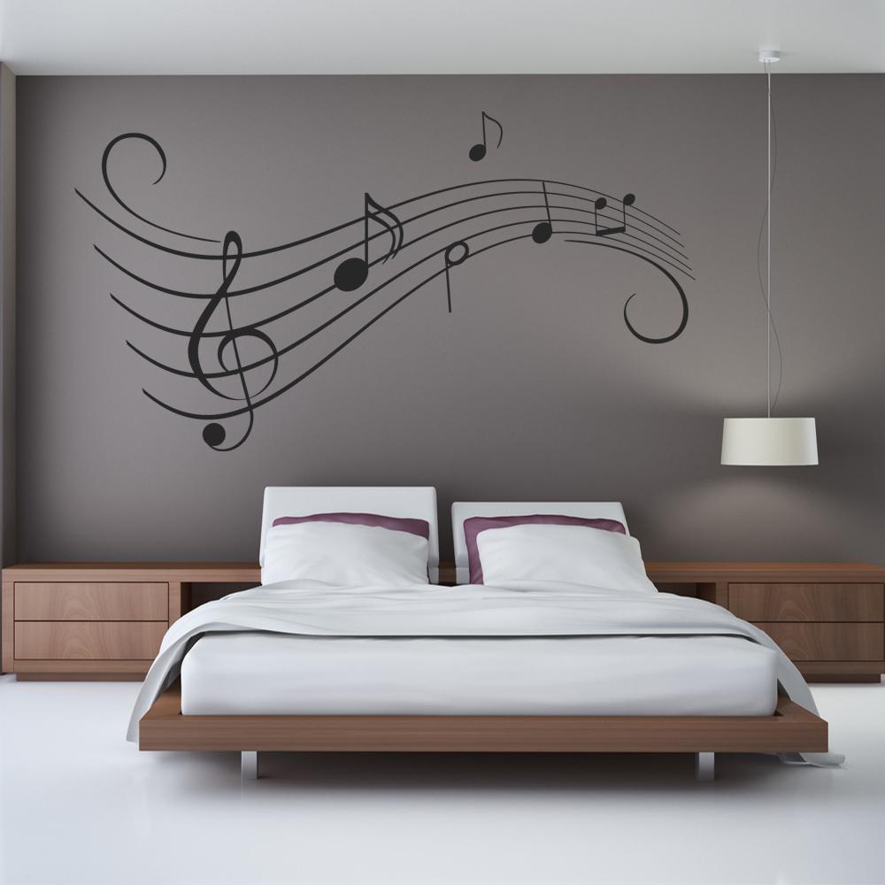 wandtattoos folies wandtattoo notenzeilen. Black Bedroom Furniture Sets. Home Design Ideas