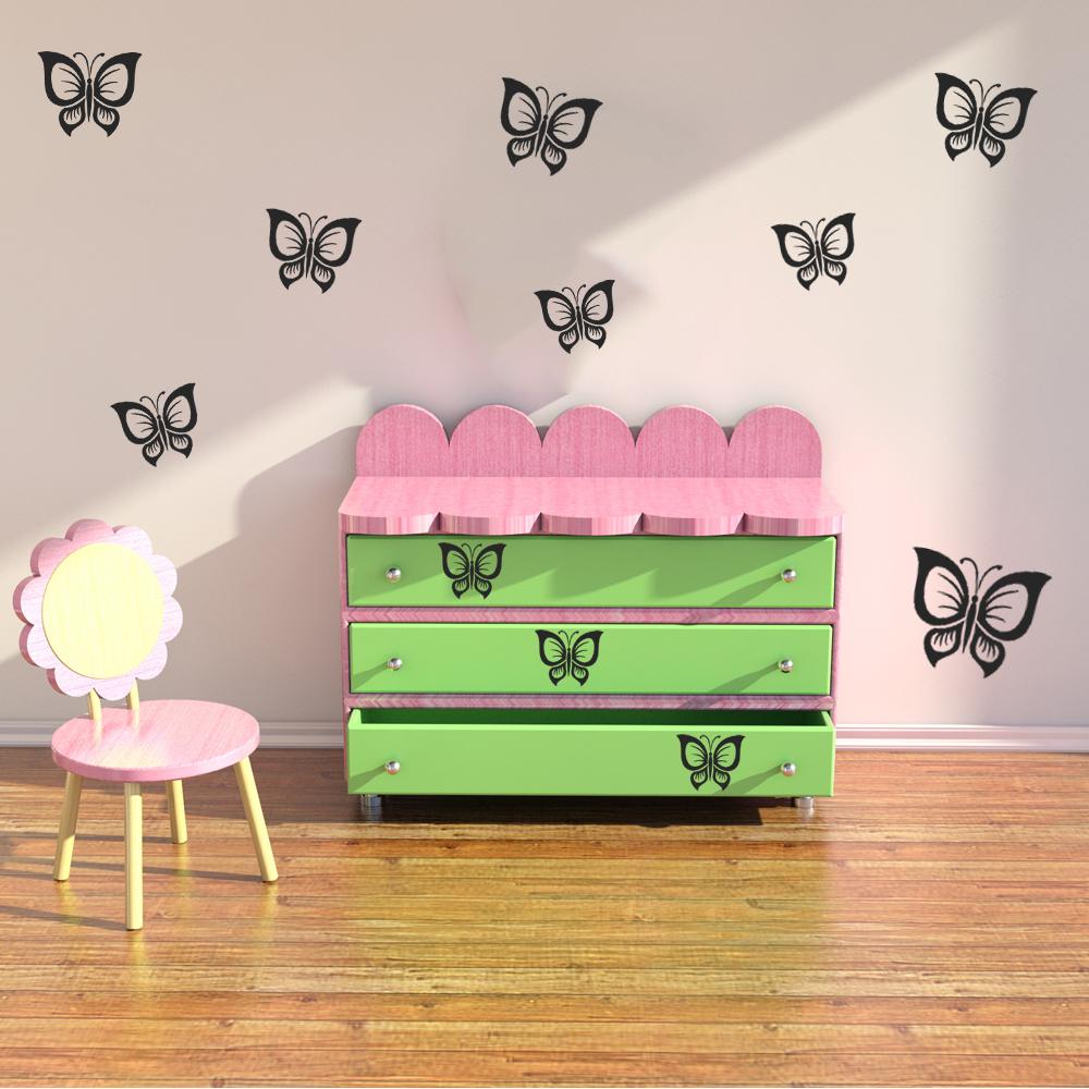 Ansprechend Wandtattoo Schmetterling Ideen Von Set