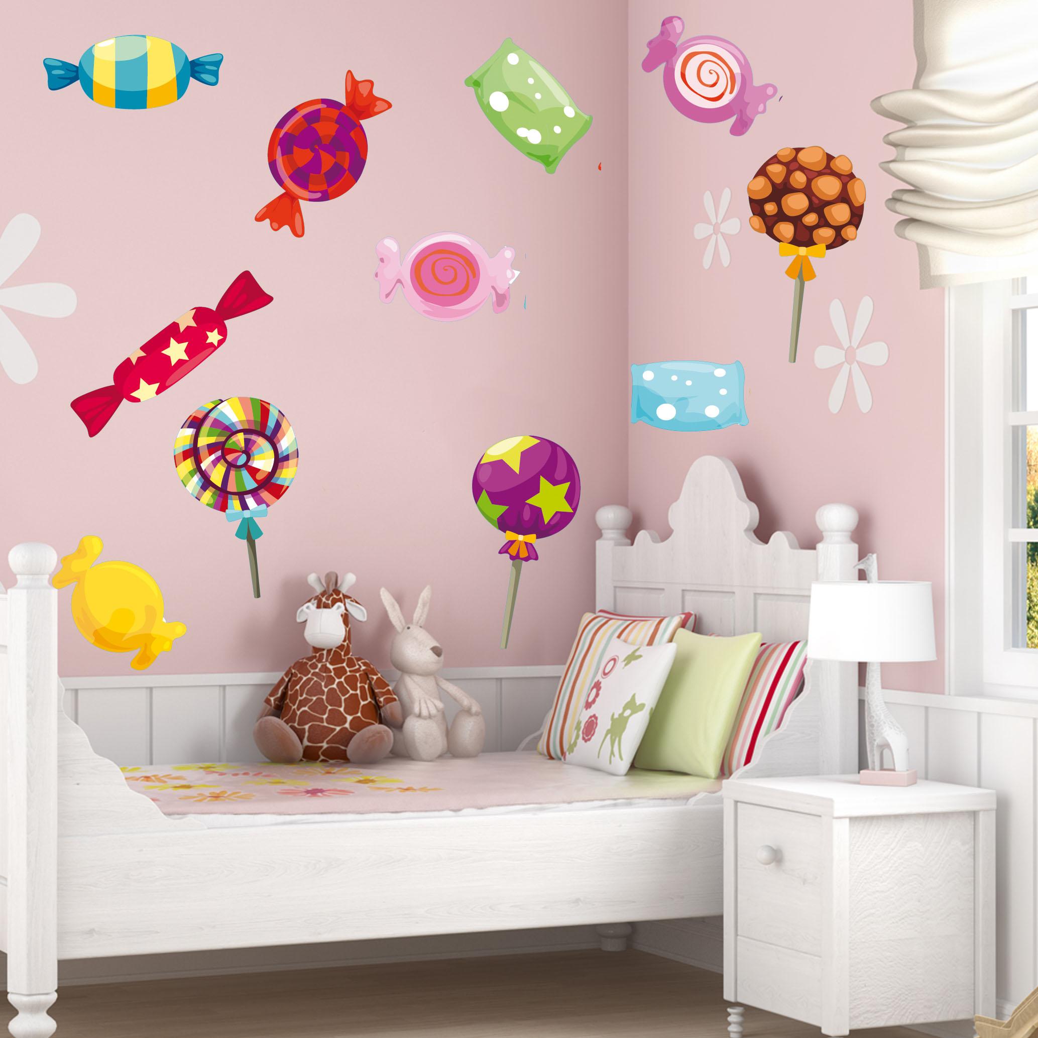 Wandtattoos folies : Wandtattoo Süßigkeiten Set