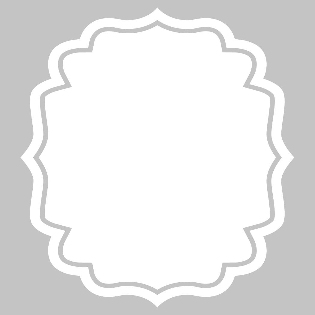 Wandtattoos folies : Wandtattoo Velleda weisse Tafel Rahmen