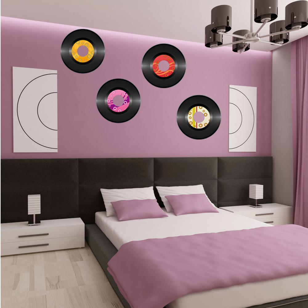 wandtattoos folies wandtattoo vinyl schallplatten set. Black Bedroom Furniture Sets. Home Design Ideas