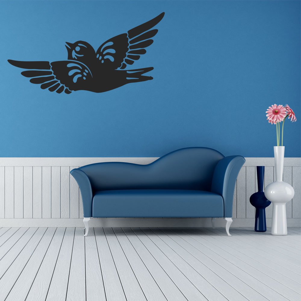 wandtattoos folies wandtattoo vogel. Black Bedroom Furniture Sets. Home Design Ideas