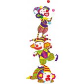 Wandsticker Clown